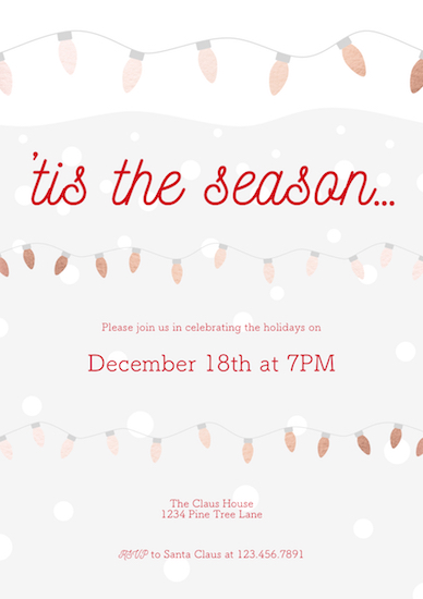 party invitations - Holiday Lights by Designs by Aili