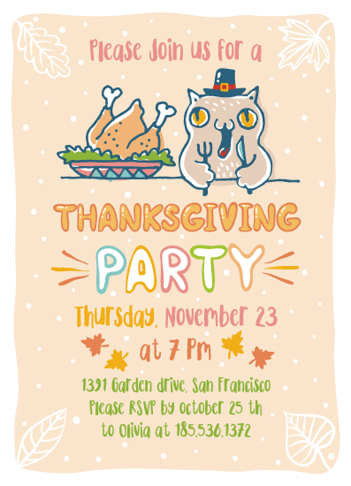party invitations - Thanksgiving party by Igor