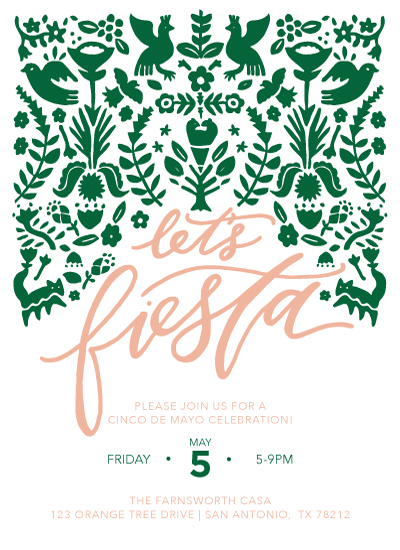 party invitations Lets Fiesta Invitation at Mintedcom