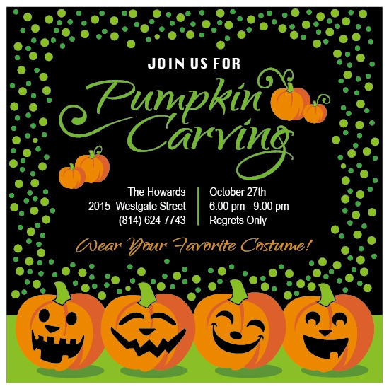party invitations - Halloween Pumpkin Party by Cindy Taylor