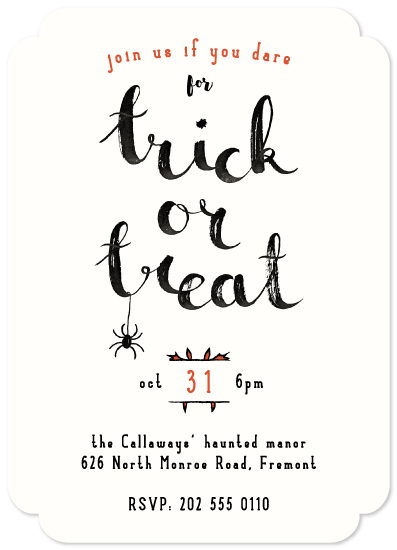 party invitations - Dare trick or treat by Gwen Bedat