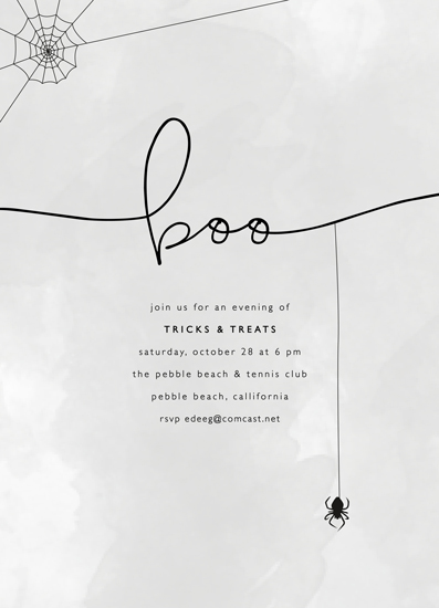party invitations - boo by Erin Deegan