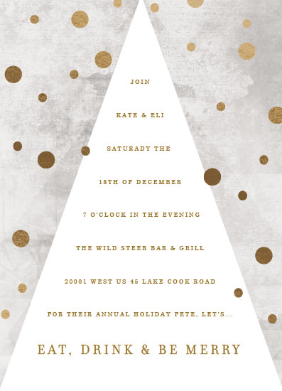 party invitations - Dotty Holiday by Baumbirdy