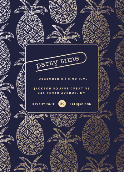 party invitations - Pineapple Party by Jan Shepherd