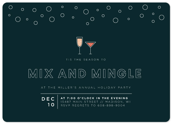 party invitations - Modern Mix and Mingle by Melissa Cadle