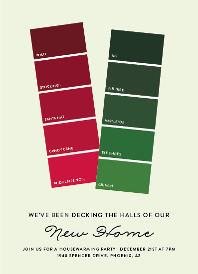 party invitations - Holiday Paint Swatch by Becca Thongkham