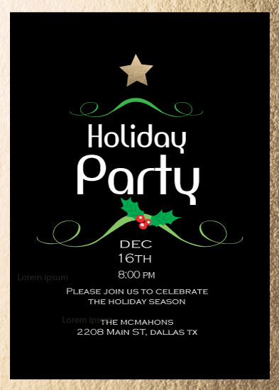 party invitations - Holiday Traditions by Cecilia McMahon