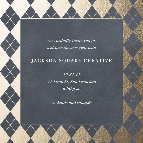 party invitations - Checkered Daimonds by elena diaz