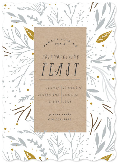 party invitations - Friendsgiving Feast by Hannah Williams
