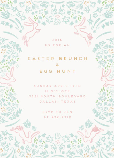 party invitations - bunnies and brunch by Julie Murray