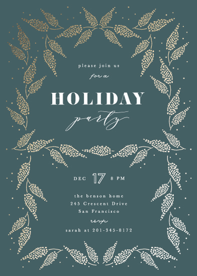 party invitations - Ornamental pine by Creo Study