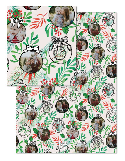 - Globes and Bows Christmas Gift Wrapping Paper by NelliK