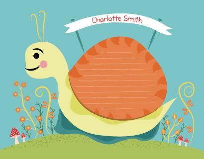 - snail in the garden by Emma Whitelaw