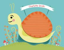 snail in the garden by Emma Whitelaw
