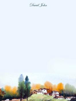 watercolor autumn landscape