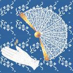 Fan and Gloves by Carmelle Jolin