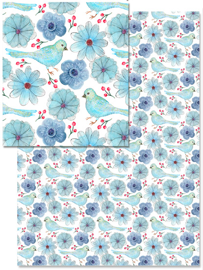- My blue birds by julia grifol designs