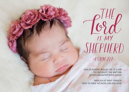 invitations - Lord my Shepherd by Juliana Nahas