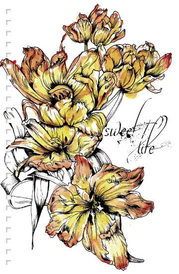 - BW Fire Tulip Notebook Sweet Life by Carlita Brown Christian