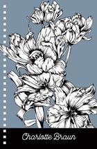 BW Fire Tulip on Blue N... by Carlita Brown Christian