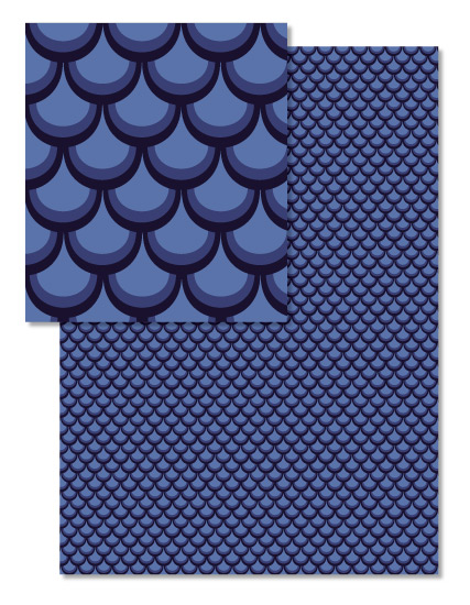 - Mermaid/Dragon Scales by Brittany Long Design