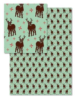 Block Print Reindeer