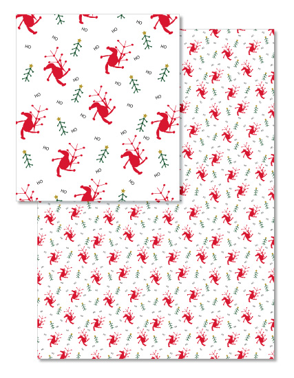 - Dancing Santas by Orange Poppy Designs