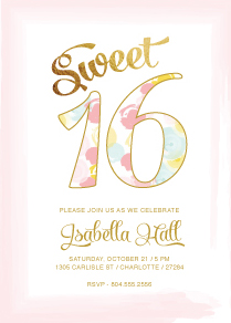 invitations - Sweet Sixteen 1 by ERIN HILL