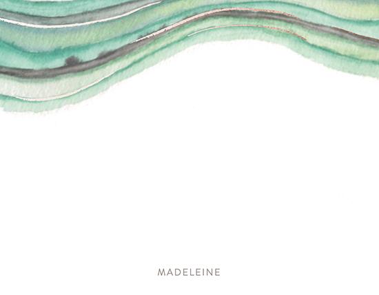 - watercolor waves by Hallie Fischer