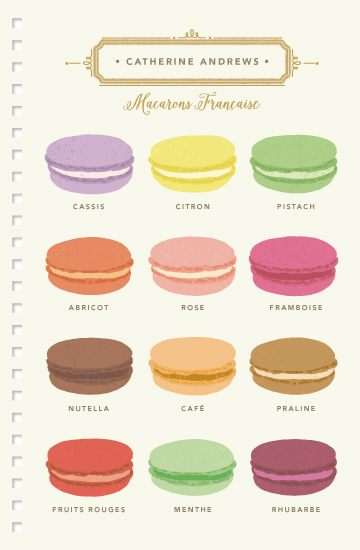 - Macarons Française by Griffinbell Paper Co.
