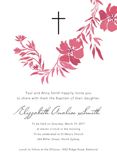 invitations - Pink Baptism by Devon Swing