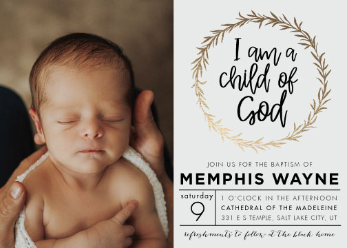 invitations - Child of God by Jen Black