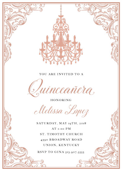 invitations - Quinceañera Elegance by Katherine Stout