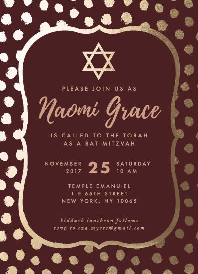 invitations - Marsala Gold by Anne Designs