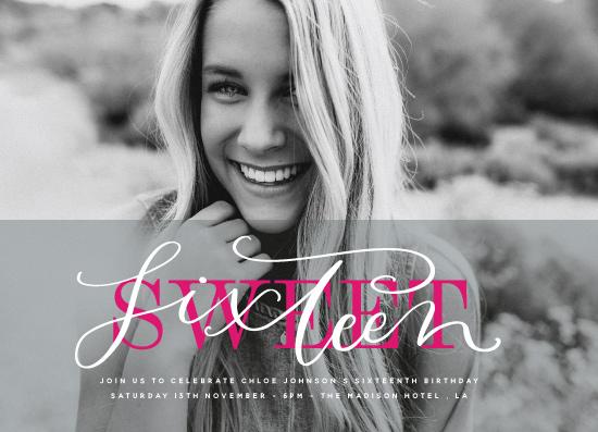 invitations - Bold Sweet Sixteen by Nicola