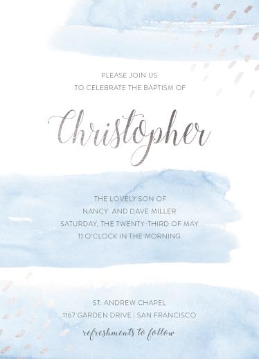 invitations - Waters of Baptism by frau brandt