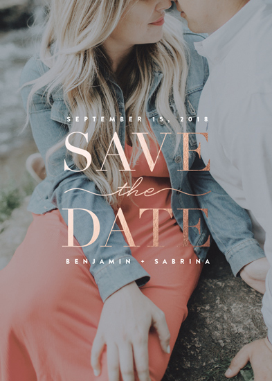 save the date cards - Elegant Overlay by Erica Krystek