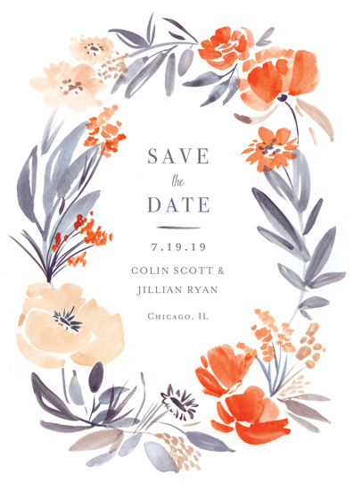 save the date cards - Fancy Florals by Morgan Ramberg