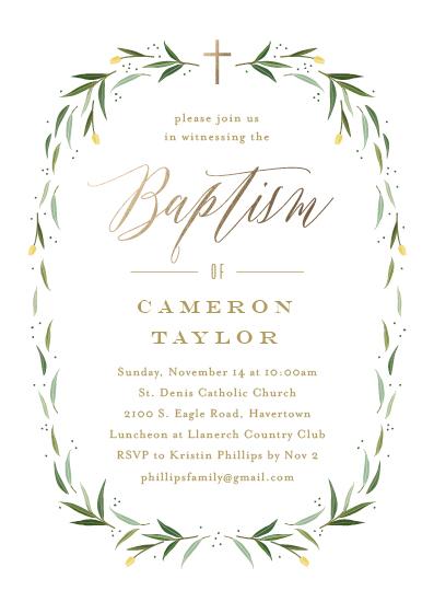 invitations - Eucalyptus Wreath by Carolyn MacLaren
