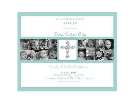 invitations - Baptism Photo Montage by Dottie Jayne Design Co