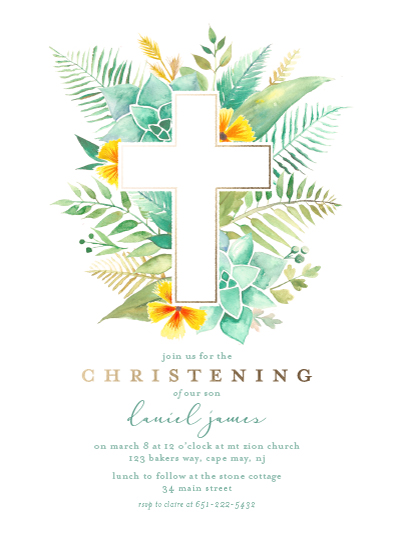 invitations - Cherished Greens by Laura Moyer