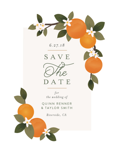 save the date cards - Orange Grove by Itsy Belle Studio
