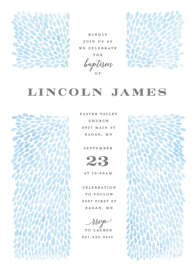invitations - Water Drops by Michelle Taylor