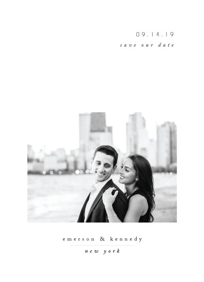 save the date cards - Minimal Romance by Playground Prints