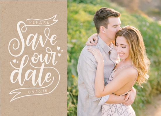 save the date cards - Minimalist Save Our Date by Jordyn Alison Designs