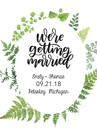 save the date cards - We're Getting Married Greenery by Jordyn Alison Designs