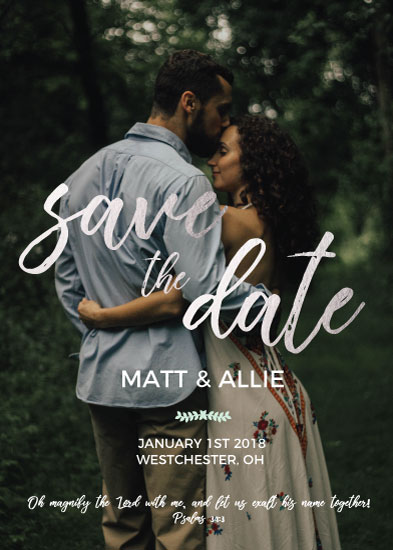save the date cards - Magnify Him by Jessica Sonnenberg