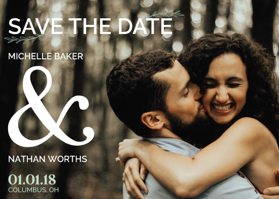 save the date cards - Woodlands by Jessica Sonnenberg