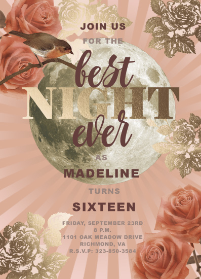 invitations - Best Night Ever by Claire Womack