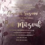 Bat Mitzvah Invitation by Claire Womack